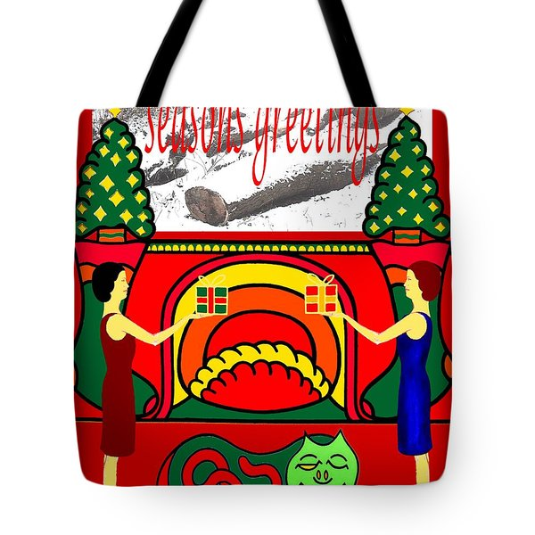 Seasons Greetings 18 Tote Bag by Patrick J Murphy