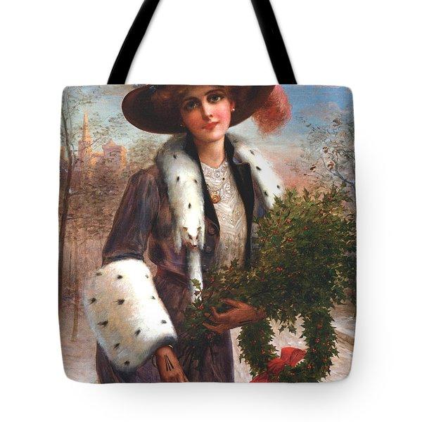 Seasons Greetings Tote Bag by Emile Vernon