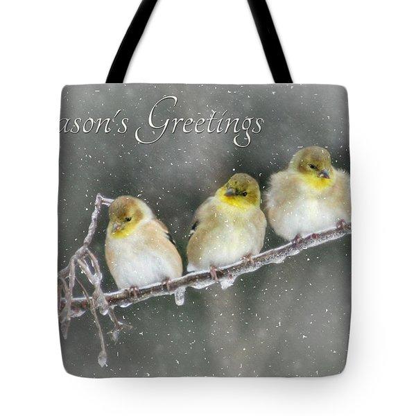 Season's Greetings Tote Bag by Lori Deiter
