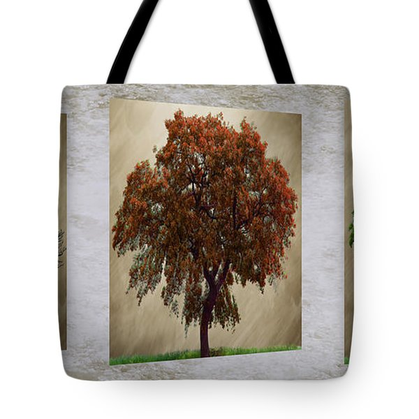 Seasons Triptych Tote Bag by Cheryl Young