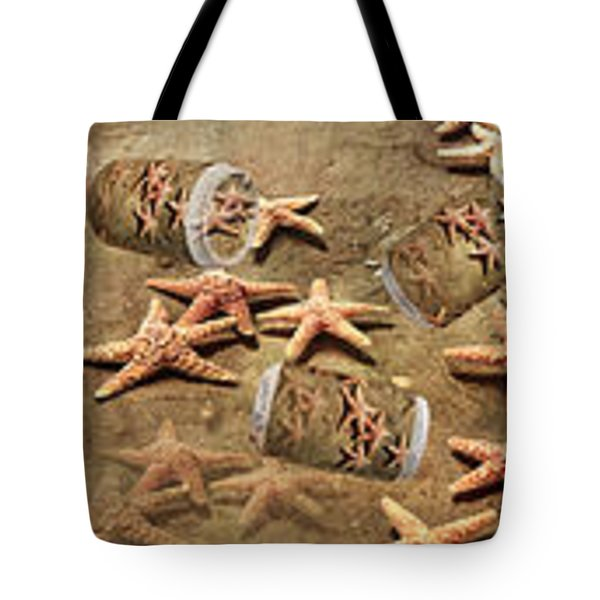 Seastar Large Banner Tote Bag by Betsy A  Cutler