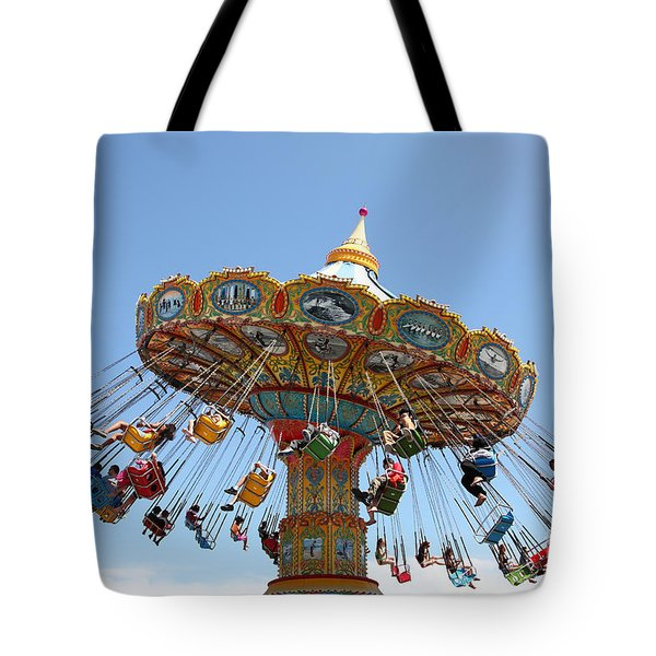 Seaswings At Santa Cruz Beach Boardwalk California 5D23905 Tote Bag by Wingsdomain Art and Photography