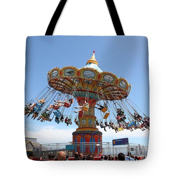 Seaswings At Santa Cruz California 5D23894 Tote Bag by Wingsdomain Art and Photography