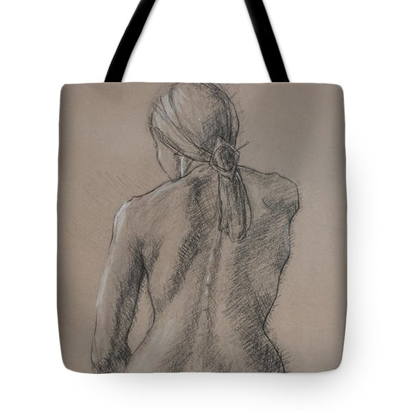 Seated Figure Tote Bag by Sarah Parks