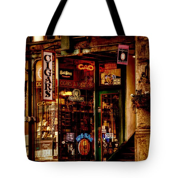 Seattle Cigar Shop Tote Bag by David Patterson
