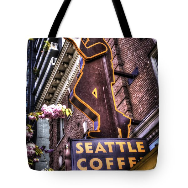 Seattle Coffee Works Tote Bag by Spencer McDonald
