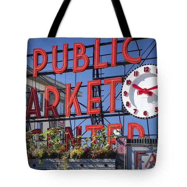 Seattle Market  Tote Bag by Brian Jannsen