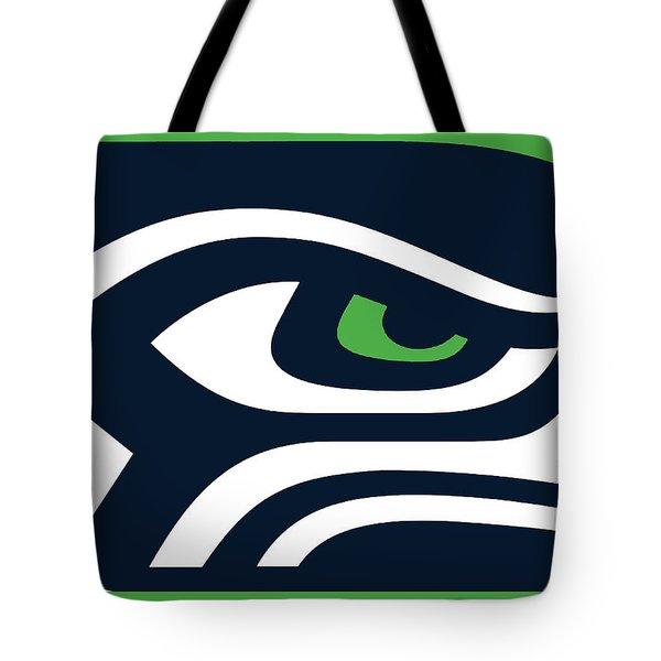 Seattle Seahawks Tote Bag by Tony Rubino