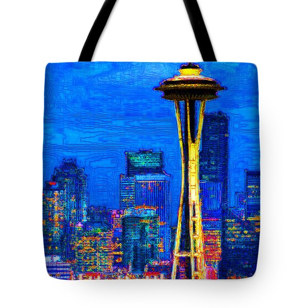Seattle Space Needle 20130115v1 Tote Bag by Wingsdomain Art and Photography