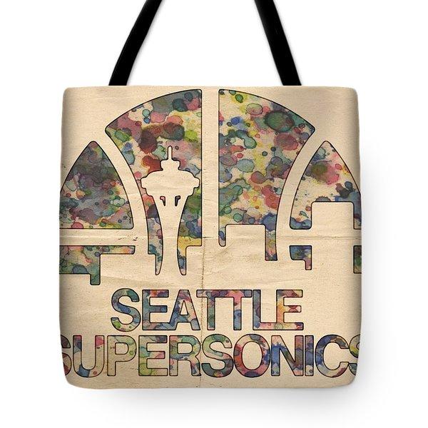 Seattle Supersonics Poster Vintage Tote Bag by Florian Rodarte