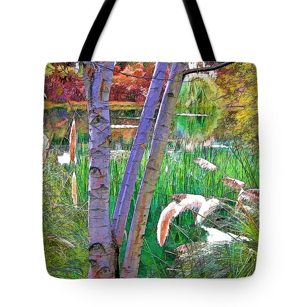 Secluded Pond Tote Bag by Chuck Staley