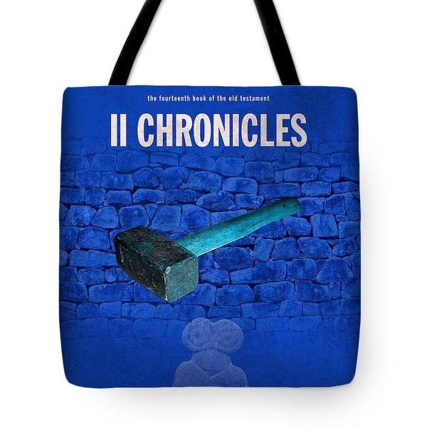 Second Chronicles Books Of The Bible Series Old Testament Minimal Poster Art Number 14 Tote Bag by Design Turnpike