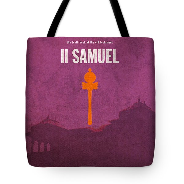 Second Samuel Books of the Bible Series Old Testament Minimal Poster Art Number 10 Tote Bag by Design Turnpike