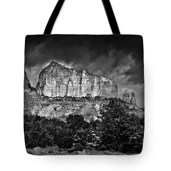 Sedona Arizona - Winter Tote Bag by Bob and Nadine Johnston