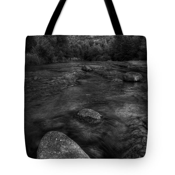 Sedona Cathedral Rock Black and White Tote Bag by Dave Dilli