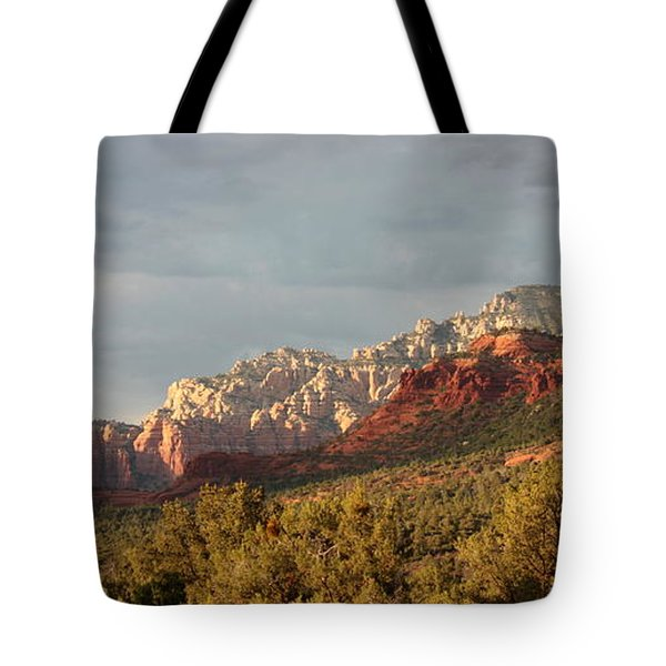 Sedona Sunshine Panorama Tote Bag by Carol Groenen