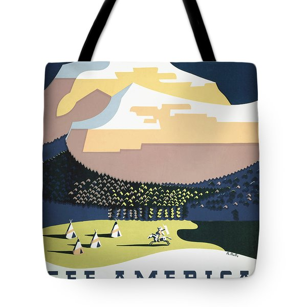See America - Montana Tote Bag by Nomad Art And  Design