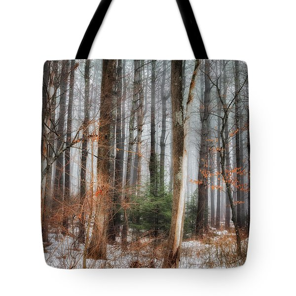 Seeing The Trees Thru The Forest Tote Bag by Bill  Wakeley