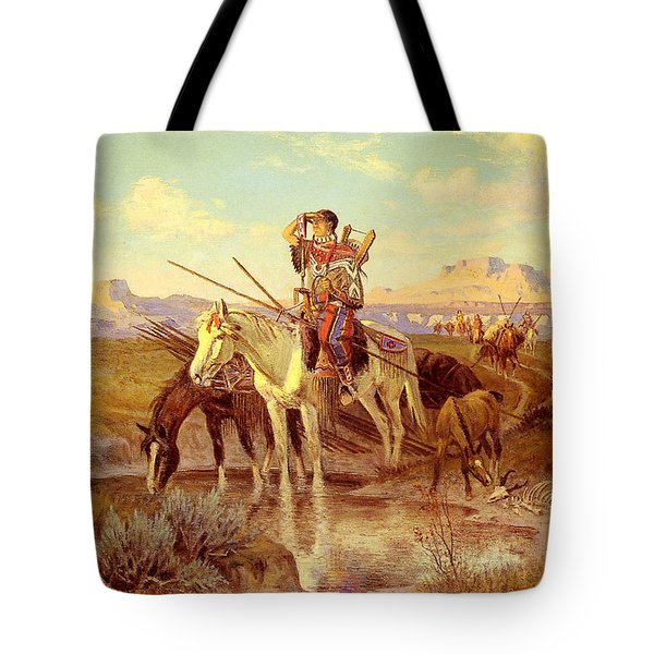 Seeking New Camping Ground Tote Bag by Olaf Seltzer