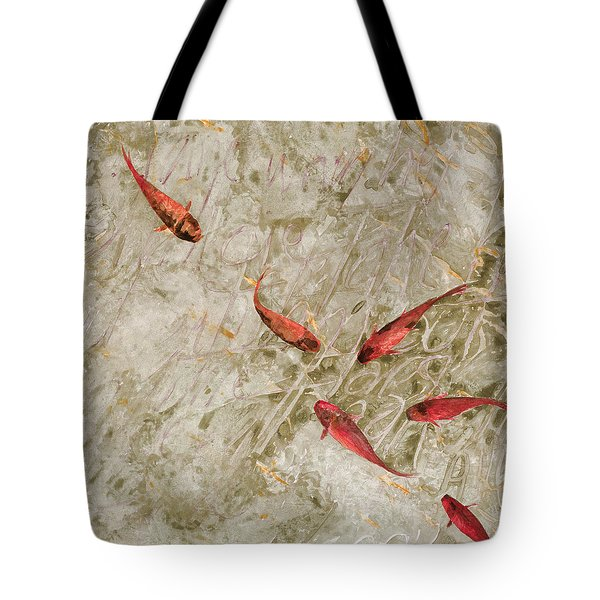 Sei Pesci Rossi   Tote Bag by Guido Borelli