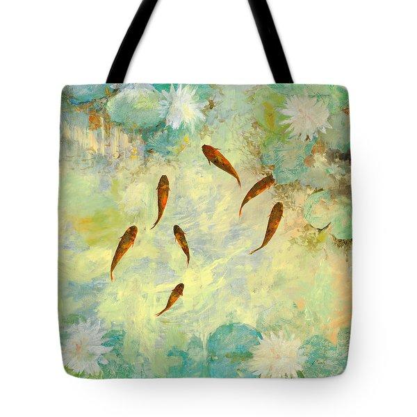 sei pesciolini verdi Tote Bag by Guido Borelli