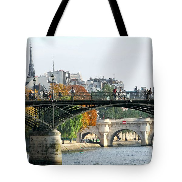 Seine bridges in Paris Tote Bag by Elena Elisseeva