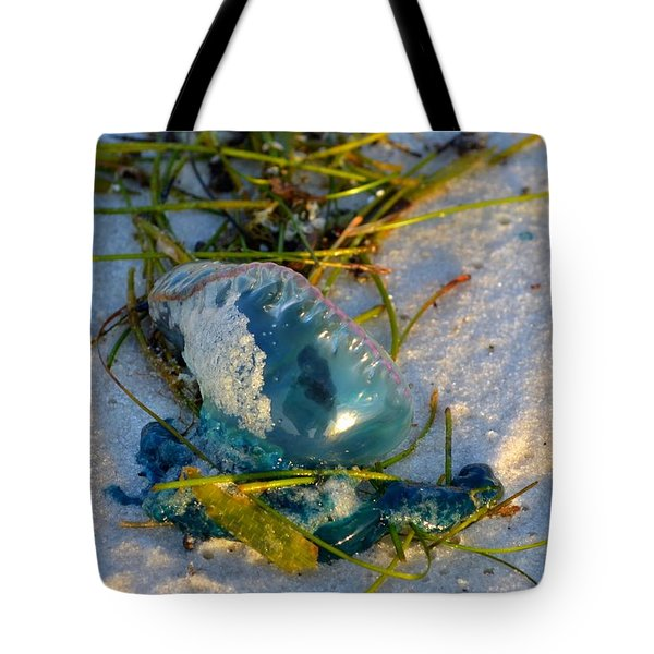 Self Portrait In Man O War On Navarre Beach Tote Bag by Jeff at JSJ Photography