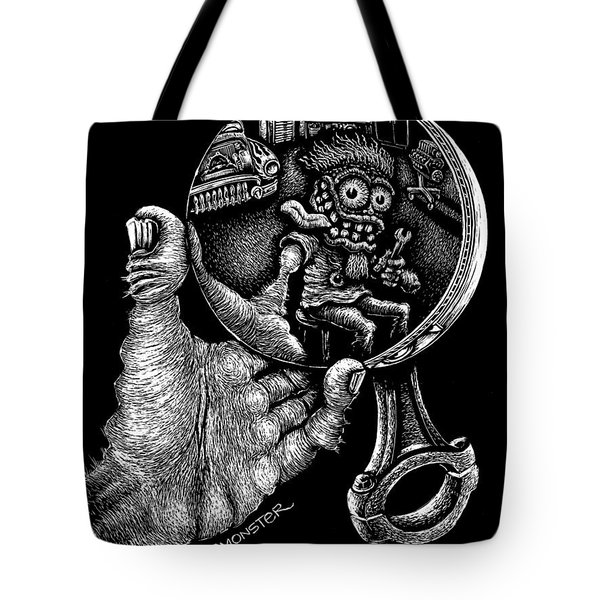 Self Reflection Tote Bag by Bomonster
