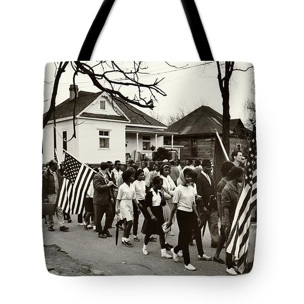 Selma to Montgomery Tote Bag by Benjamin Yeager