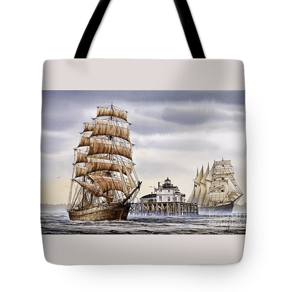 Semi-ah-moo Lighthouse Tote Bag by James Williamson
