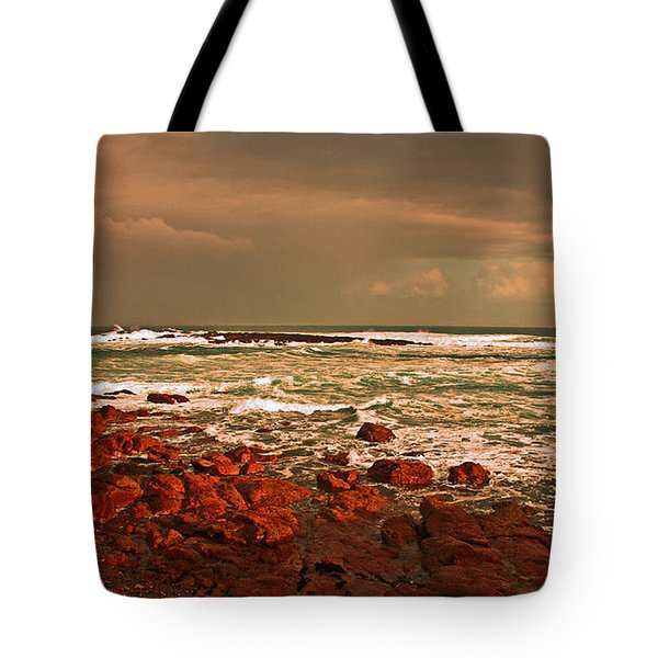Sennen storm Tote Bag by Linsey Williams