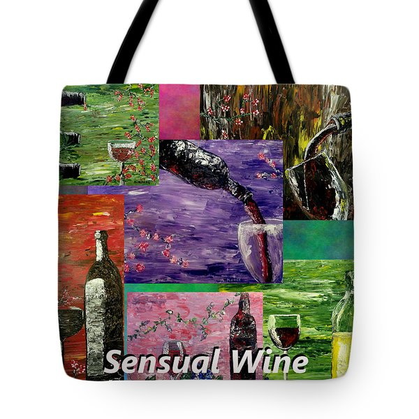 Sensual Wine Collage Tote Bag by Mark Moore