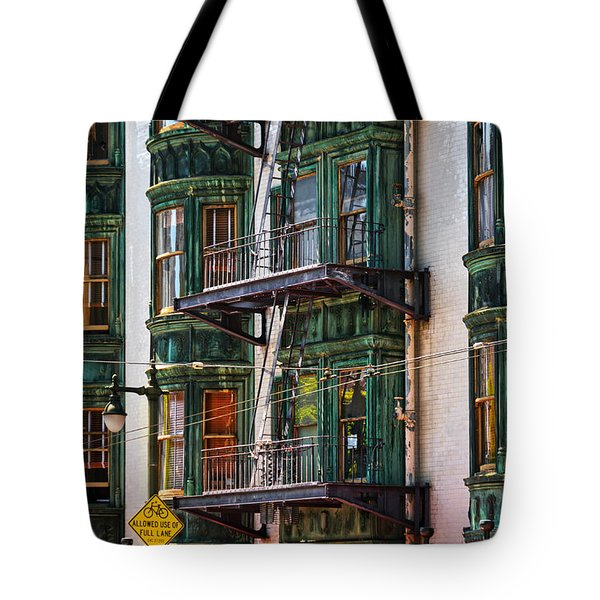 Sentinel Building Or Columbus Tower Tote Bag by RicardMN Photography