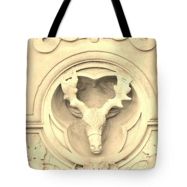 Sepia Reindeer Tote Bag by Sonali Gangane