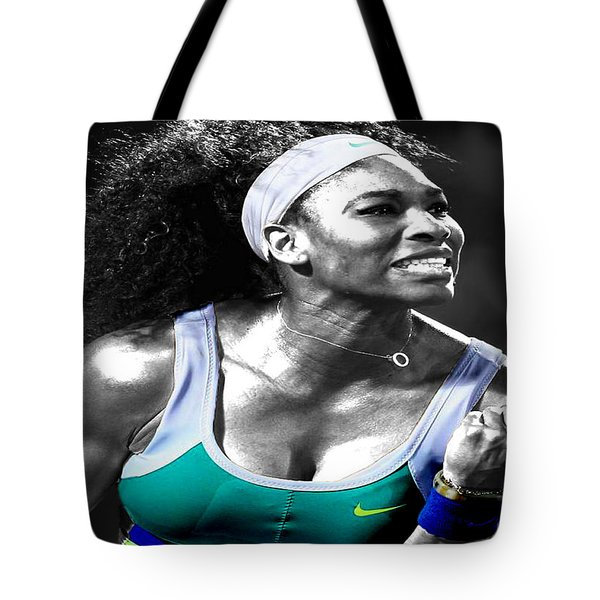 Serena Williams Ace Tote Bag by Brian Reaves