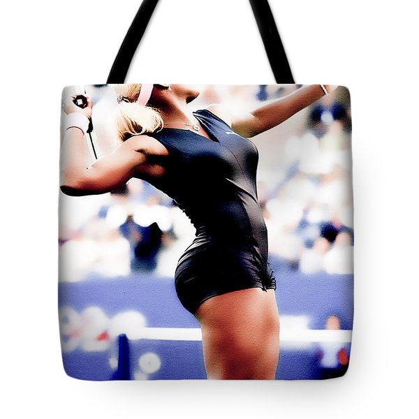 Serena Williams Catsuit Tote Bag by Brian Reaves