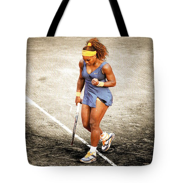Serena Williams Count It Tote Bag by Brian Reaves