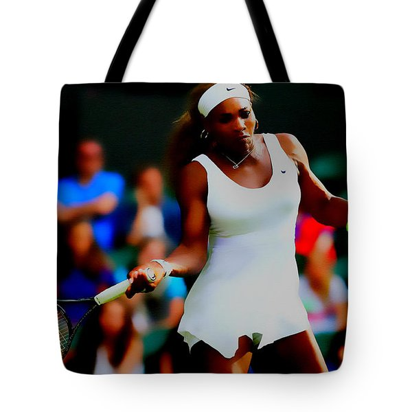 Serena Williams Making It Look Easy Tote Bag by Brian Reaves
