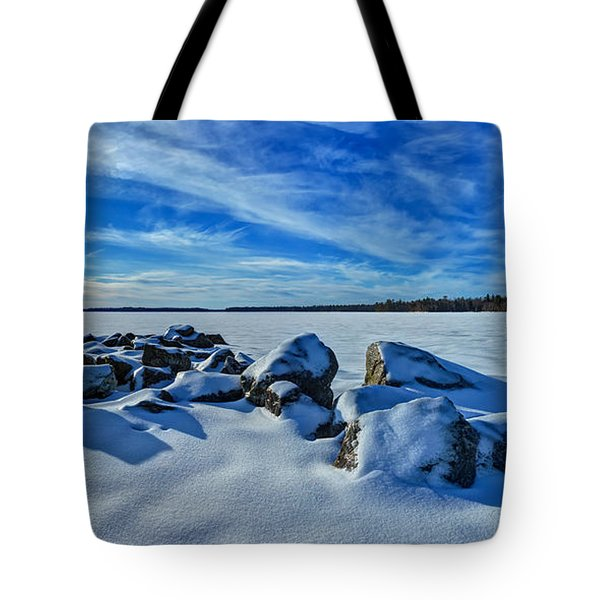 Serenity in Snow Tote Bag by Bill Caldwell -        ABeautifulSky Photography