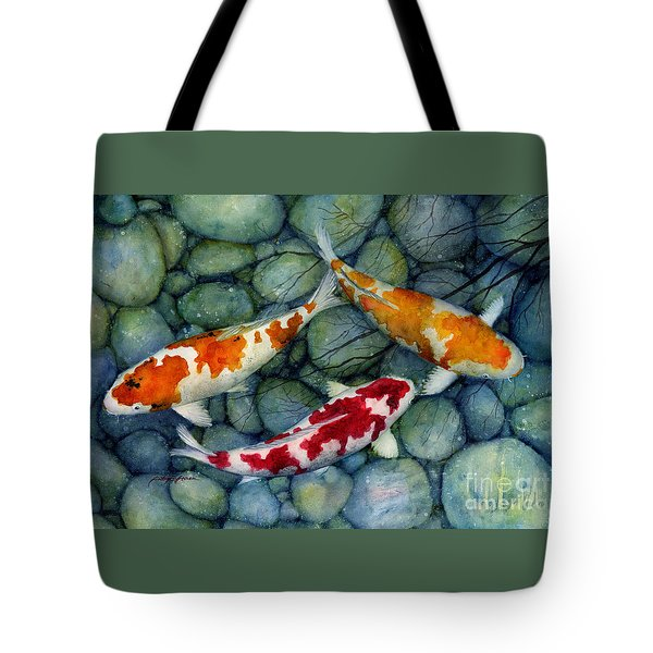 Serenity Koi Tote Bag by Hailey E Herrera