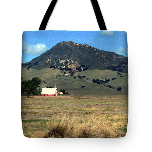 Serenity under Bishops Peak Tote Bag by Kurt Van Wagner