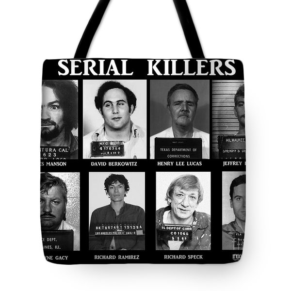 Serial Killers - Public Enemies Tote Bag by Paul Ward