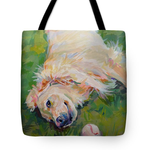 Seventh Inning Stretch Tote Bag by Kimberly Santini