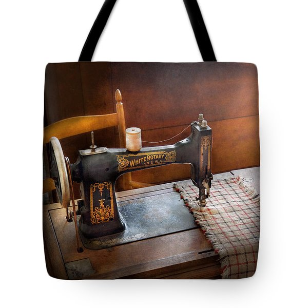Sewing - It's just Black and White  Tote Bag by Mike Savad