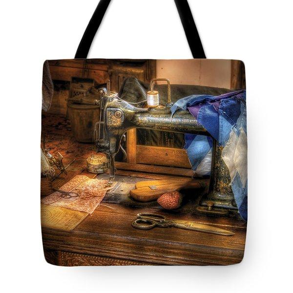 Sewing Machine  - Sewing Machine IIi Tote Bag by Mike Savad