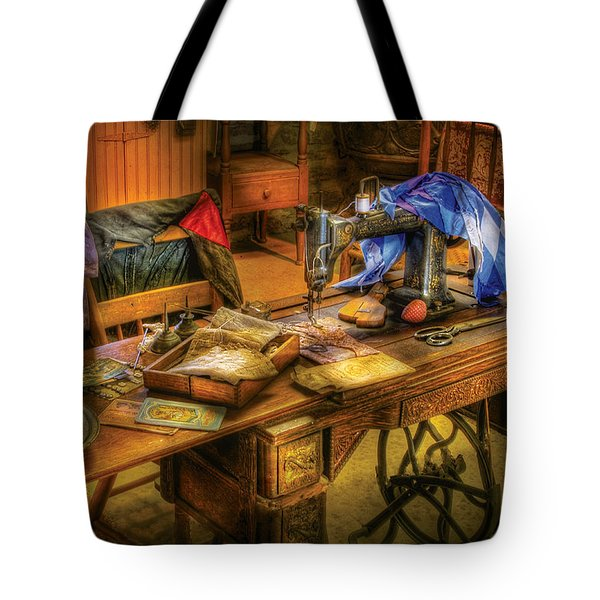 Sewing Machine  - Sewing Machine Iv Tote Bag by Mike Savad
