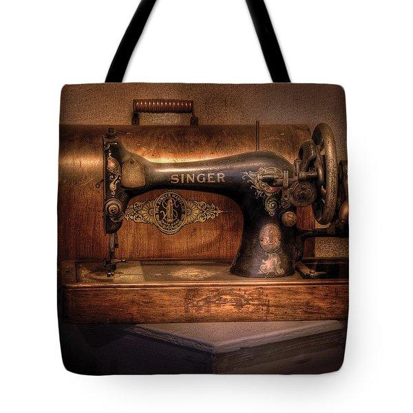 Sewing Machine  - Singer  Tote Bag by Mike Savad