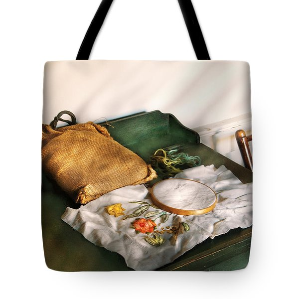 Sewing - Needle Point Tote Bag by Mike Savad