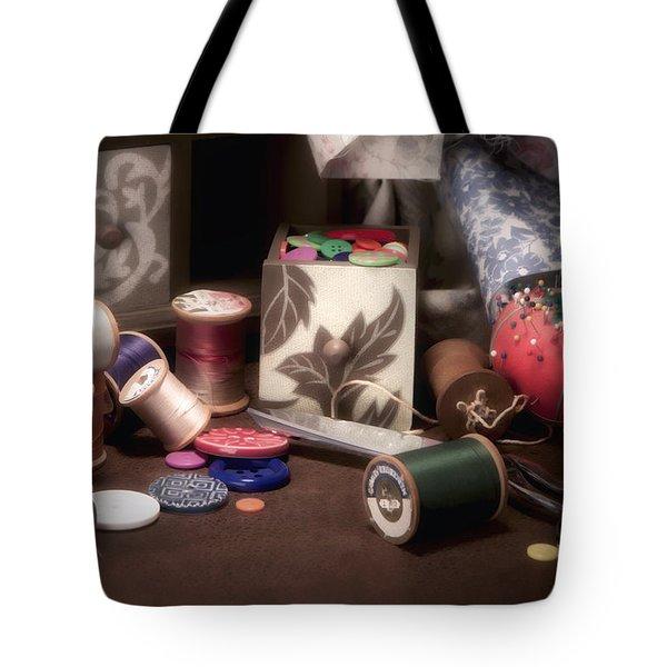 Sewing Notions II Tote Bag by Tom Mc Nemar
