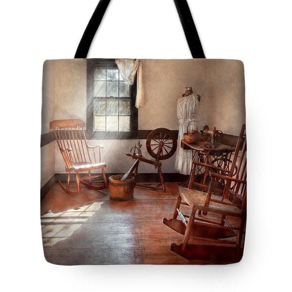 Sewing - Room - Grandma's Sewing Room Tote Bag by Mike Savad